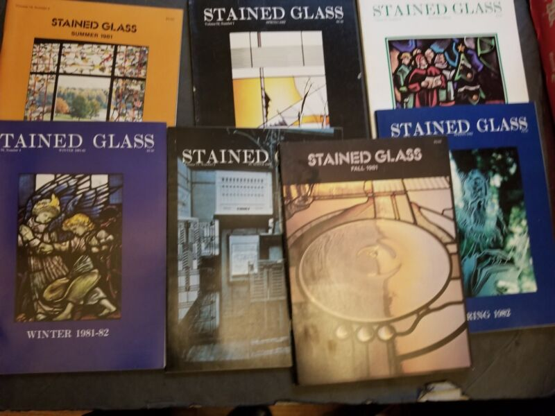 Huge lot Vintage Stained GLASS Magazine 1970-1980