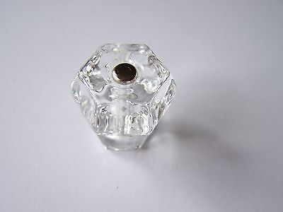 ANTIQUE STYLE GLASS KNOBS 1 1/4
