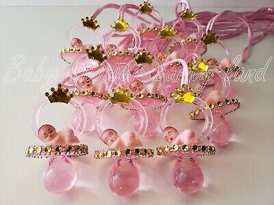 12 Princess Pacifier Necklace Baby Shower Favor Prize Game Girl Decor Recuerdos - Princess Baby Shower Games