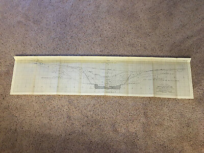 1912 Panama Canal Chart Showing Section through East and West Culebra Slides