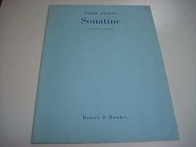 Andre Jolivet Sonatine for Flute and Clarinet duet sheet music Flute Clarinet Duets