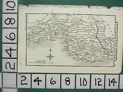 c1833 GEORGIAN MAP ~ GLAMORGANSHIRE ~ CARDIFF LLANDAFF NEATH