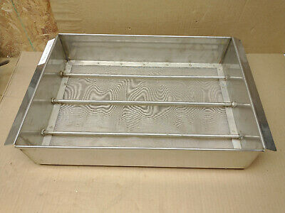 Large Stainless Steel Box Sieve 20x14x4 Inches Replaceable Screen