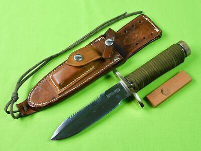 Vintage Custom Handmade RANDALL Model 18 Attack Survival Knife w/ Sheath Stone
