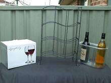 .. WINE- RACK - WINE ICE BUCKET -- plus WINE GLASSES -- Hoxton Park Liverpool Area Preview