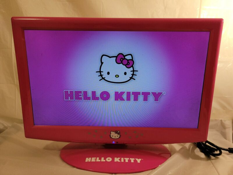 Rare Hello Kitty KT2219 19 Inch Flat Screen LCD TV, Pink, No Remote