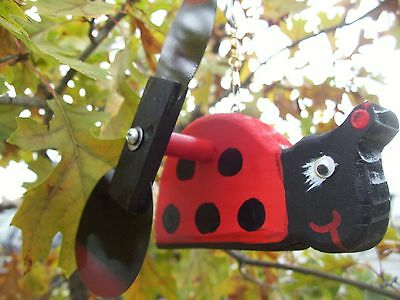 Ladybug Mini Whirligigs Whirligig Windmill Yard Art Hand made from wood