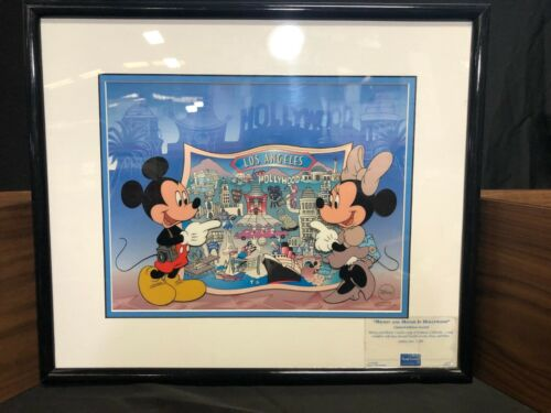 "Disney Limited Edition Sericel ""Mickey & Minnie In Hollywood"""
