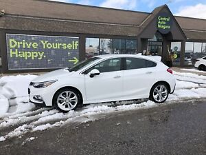 2018 Chevrolet Cruze Premier / LEATHER / HEATED SEATS / BACK UP