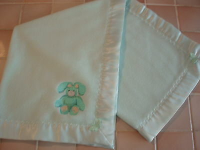 Handmade Embroidered Baby bedding Mint Green Satin /Mint fleece blanket/crib etc