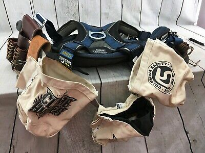 Dbi Sala Exofit Med Full Body Tower Climbing Safety Harness Seat Used