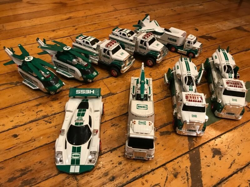 Lot of 9 Hess Trucks - Good Condition - Working Lights and Sounds!