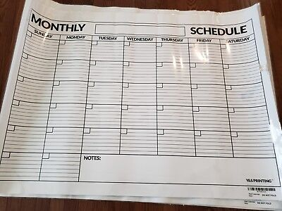 Large Dry Erase Poster Board Laminated Classroom Monthly Wall Calendar, 36-In by](Dry Erase Poster Board)