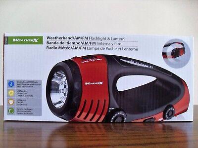 Weather X Noaa Band Am Fm Radio Led Flashlight Lantern Dynamo Hand Crank Wf382r