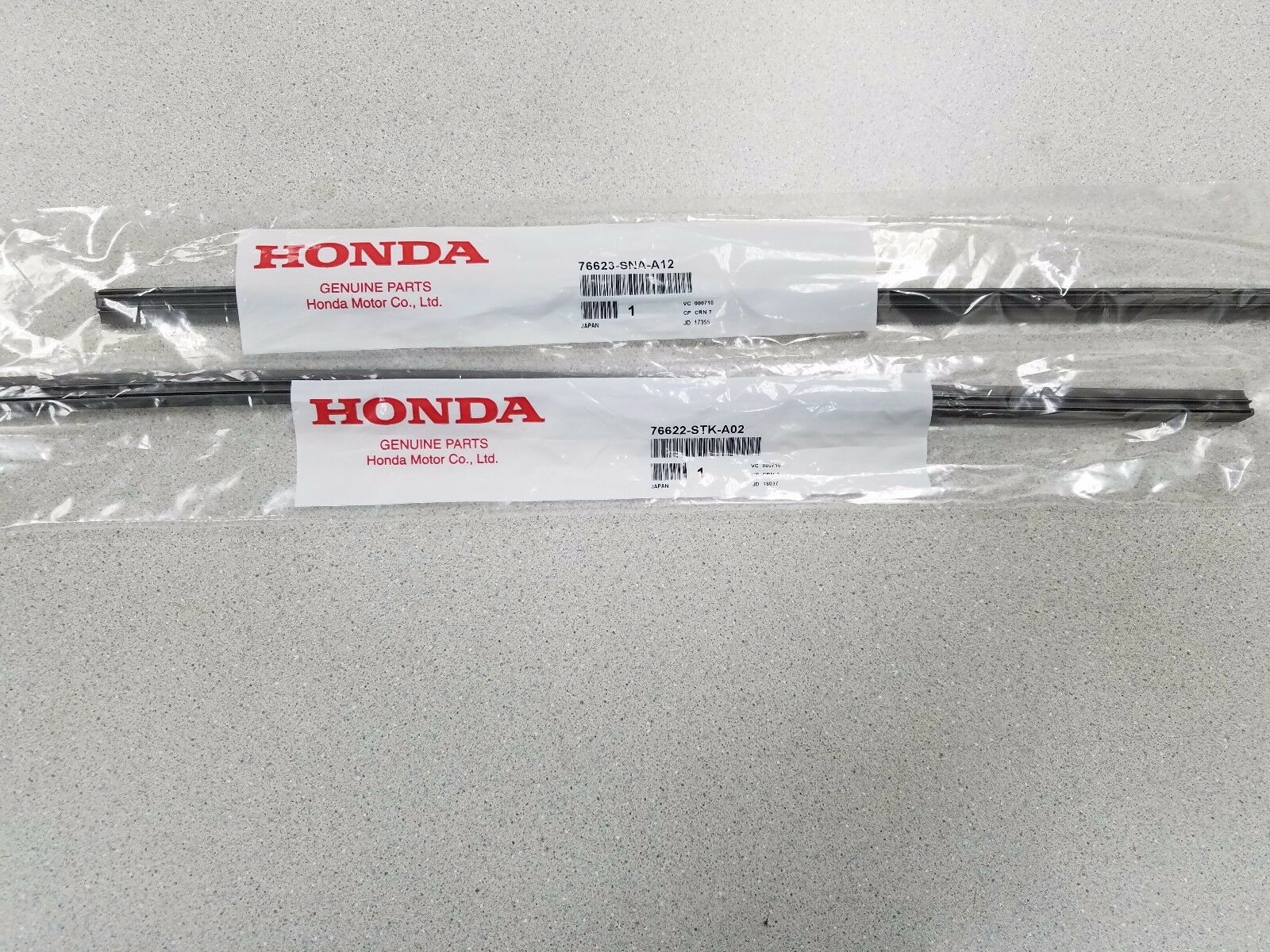 NEW GENUINE HONDA CIVIC 4 DOOR WIPER REFILL SET 2008 TO 2015 FOR FACTORY BLADES