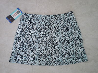 "TRANQUILITY COLORADO CLOTHING SKORT GOLF YOGA ""DENSE LEAVES"" Size LARGE, NEW"