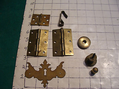 vintage metal pieces, hinges, drawer design, etc