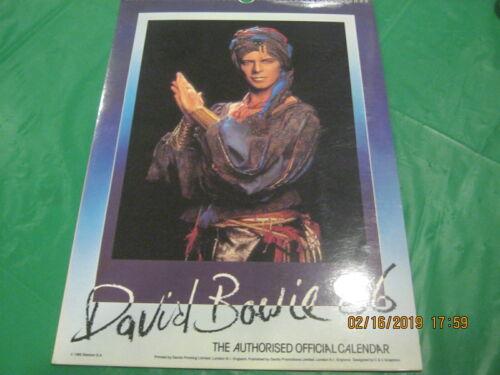 """David Bowie 1986 Calendar - 11-3/4"""" X 16-1/2"""" MINT! 12 Large Prints  RARE!"""