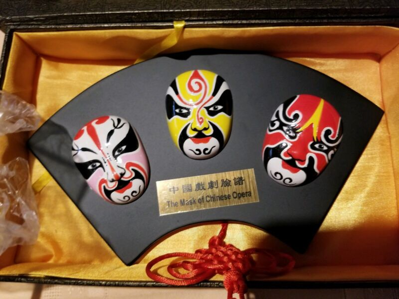 Vintage Orient Crafts The Masks of Chinese Opera, Chinese Decor