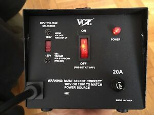 VCT VT-2000J Japan step up/down transformer