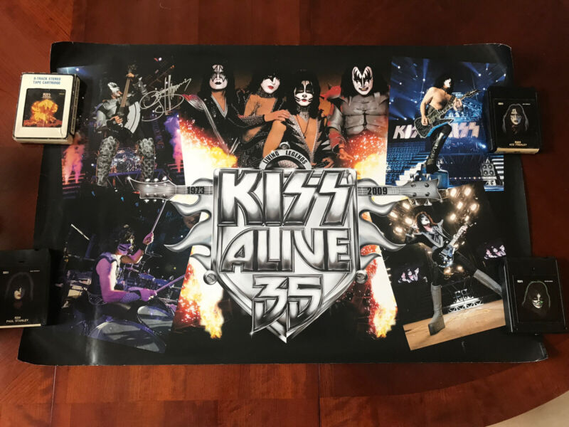 KISS Alive 35 Poster signed by Gene Simmons