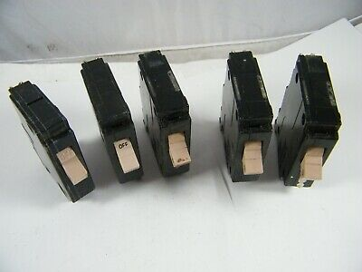 Cutler Hammer Type Ch 1 Pole 20 Amp Circuit Breaker Lot Of 5