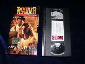 VHS IL RAPPORTO PELICAN - 2002 - Italia - L'oggetto può essere restituito - Italia