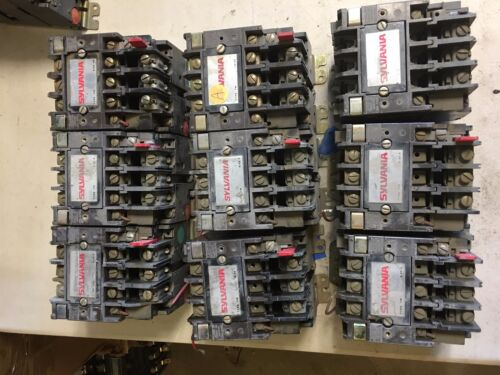 T13 Series Sylvania Motor Starters (lot of 9) PARTS ONLY NO COILS