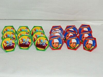 HANDY MANNY   18-PLASTIC CUPCAKE RINGS , BIRTHDAY, CHILD  -    PARTY SUPPLIES