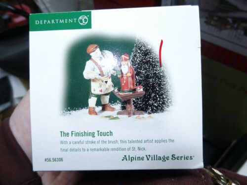 Dept 56 The Finishing Touch 56306 Alpine Village Series Accessory Figurine B-7
