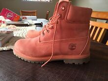 Salmon Pink Timberlands Women's boot Belmont Lake Macquarie Area Preview