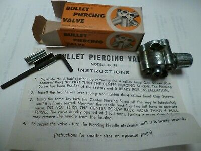 Bullet Piercing Valve Bpv 31 14 516 38 O.d. Tubing