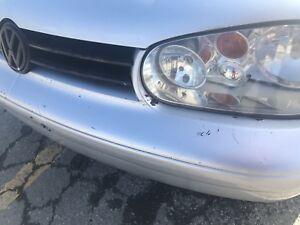 Volkswagen golf front bumper