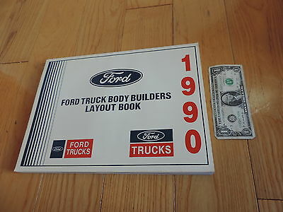1990 FORD TRUCK BODY BUILDERS LAYOUT BOOK SERVICE MANUAL