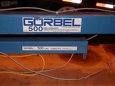 Articulating Jib Crane-gorbel - 500lb Capacity Span 10 Ftcolumn Option