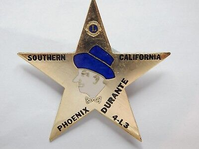 Sherriff Badge ( Jimmy Durante Sherriff Badge Southern California Pheonix 4L3 Bar Advert)