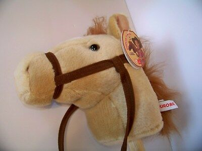 Stick Horse Toy (Aurora World Hobby Horse Toy Stick Horse Plush Neigh & Gallop Sounds-Creme)