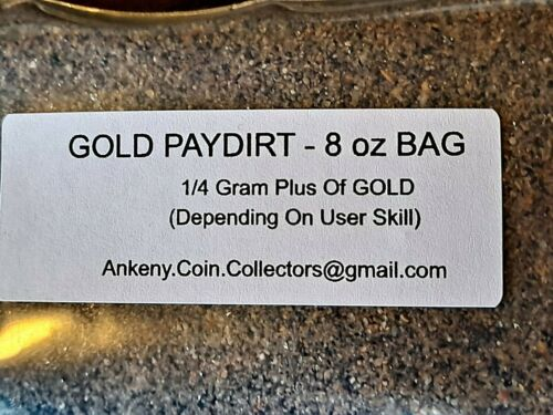 Finest, Richest, Alaska Gold Paydirt Concentrates. GOLD In Every Bag! 1/4 Gram +