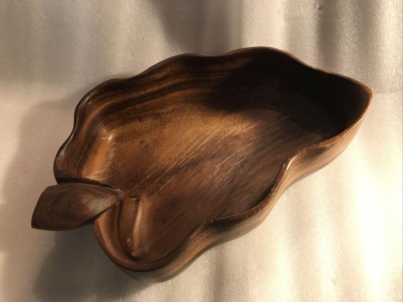 Vintage Woods of Hawaii Monkey Pod Wood - Deep Acorn Shaped Bowl Dish
