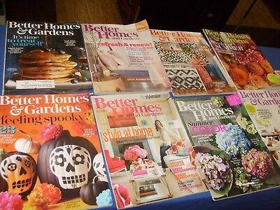 Better Homes and Gardens Magazine 2017  2016 Lot of 8 Issues mixed Halloween /g1 - Better Homes And Gardens Halloween 2017