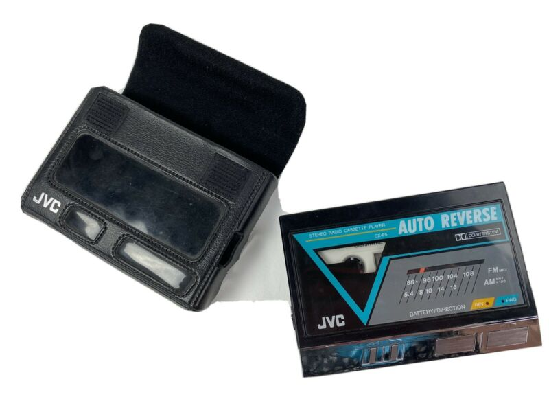 JVC CX-F5K Stereo Radio Cassette Player Tested Japan Vintage Original Case