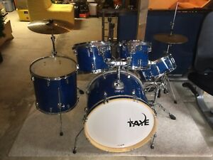 TAYE Pro X 5 pc drum set +cymbals/sticks/stand/stool for sale!