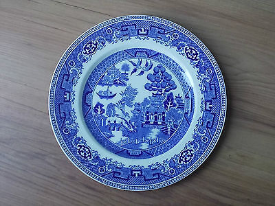 Alfred Meakin China (Vintage 1930s Alfred Meakin China Dinner Plate 22cms - Old Willow VGC)