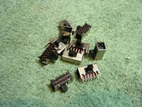 10 pcs 4 Pole Double Throw 4PDT Slide Switches, 12 pins