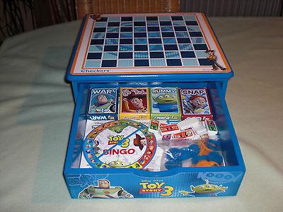 Toy Story 3 - 8 Spiele in Holzbox mit Schublade - extrem selten !
