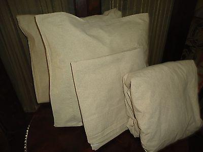Veratex Crisp Cotton Cottage Tan Khaki Cream  4Pc  Queen Sheet Set 22Tc
