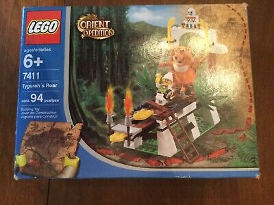 LEGO Adventurers Orient Expedition Set 7411 Tygurah's Roar + Box & Instructions
