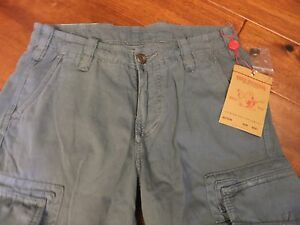 $165 Mens Boys 29 TRUE RELIGION Slate Safari Cargo Surf Long Shorts MNQY60CR7