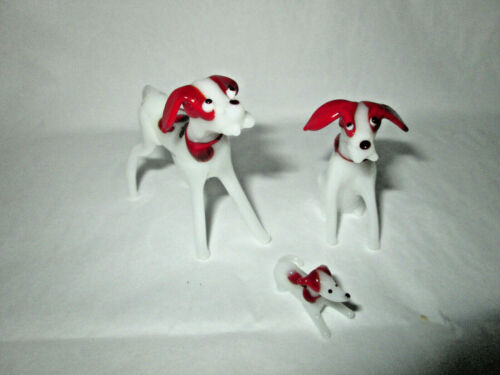 ADORABLE DELICATE HAND BLOWN MALE~FEMALE~BABY  DOGS TERRIERS MIXED