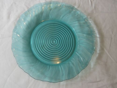 Depression Glass Jeannette Swirl Ultramarine: Dinner Plate